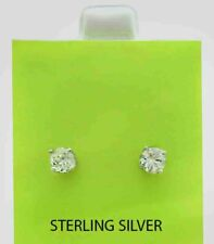 WHITE SAPPHIRES 1.52 Cts STUD EARRINGS .925 Sterling Silver *NWT* Made in USA