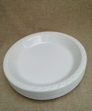 50 x plastic white   disposible 26cm plate for all occasions