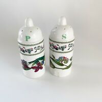 "VINTAGE PORTMEIRION Botanical Garden Variations Salt & Pepper Set 4"" Tall"
