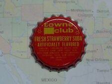 Old Beer Bottle Crown Cap ~ TOWNE CLUB Strawberry Soda Pop ~ Warren, MICHIGAN