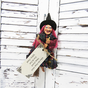 """Kitchen Witch - Good Luck Hanging Witch - Gypsy Witch on hanger with Poem- 8"""""""