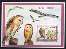 TOGO 2010 BIRD STAMPS OWLS SS MNH - BIRDL535