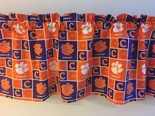 "Clemson Tigers College Football Sports Handmade Valance 41"" x 13"""