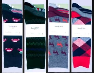 NWT 🎄 Goodfellow & Co Men's 3pk Novelty Crew Socks 🎄 10-13 (shoe size 7-12)