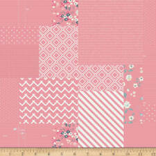 Someday Graphic Pink Flowers Text Riley Blake Quilting Fabric 1/2 Yard