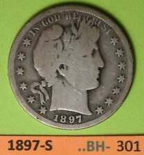 1897-S Us Barber Half Dollar in Very Good Condition. see photos Bh-301