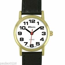 Ravel R0105.05.2 Ladies Easy Read Watch with pu Croc Leather Extra Long Strap