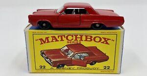 Matchbox No. 22 Pontiac Grand Prix Sports Coupe in Original 'E4' Box