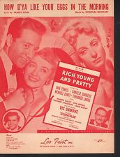 How D'ya Like Your Eggs In The Morning 1951 Rich Young & Pretty Sheet Music