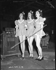 **1940/50's Vintage Original 4 x 5 Negative 3 Classic Female Singers WW2?**