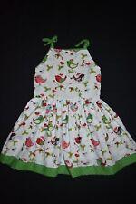 Christmas Birds christmas dress, size 7 - handmade