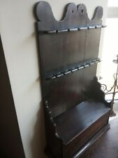 antique Welsh pine spoon rack candle box