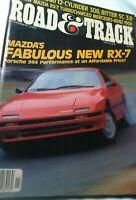 Road and Track Magazine   November 1985  Mazda RX-7, Bitter SC 3.9