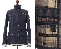 Women's BARBOUR INTERNATIONAL Motorcycle Jacket Navy Blue Size US 8 UK 12