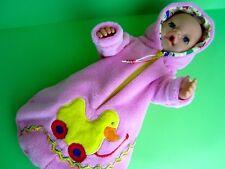 Für Baby Born/ Krümel Puppe 43  Schlafsack  -Ente-