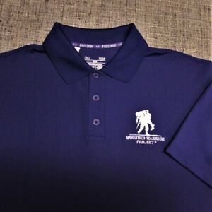 UNDER ARMOUR HEAT GEAR GOLF SHIRT--M--WOUNDED WARRIOR PROJECT--LOOKS UNWORN