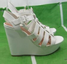 "new ladies White 4.5""High Heel 1.5""Platform open toe Sexy Shoes Size 9"