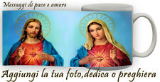 Tazza immagine di Maria - Gesu'  personalizzata con frase,messaggio,preghiera