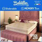 Matratze Memory Abnehmbar H 26 CM Premium Plus, Milbe , Baldiflex 3 Schichten günstig
