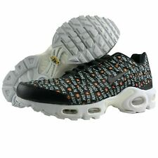 "Nike Air Max Plus Tn Women Shoes ""Just do it"" 862201-007 White/Black/Orange 9"