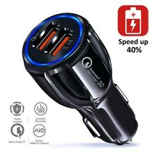 Fast Car USB Charger Quick Charge 3.0 Dual Twin  Charging for Samsung iphone HOT