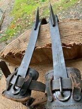 """Logger Arborist Tree Climber Topper Pruner W H Buckingham 16"""" Spurs Gaffs Spikes"""