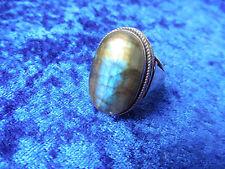 schöner, alter Ring__925 Silber__mit schönem ,großem Stein__Labradorit__!