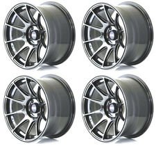 "XXR 527 15"" x 8.25J 4x100 BLACK CHROME MASSIVE WIDE RIMS ALLOYS WHEELS Z1244"