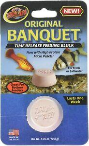 Zoo Med Banquet Original Regular Block Time Release Feeder Fish Food Fresh Salt