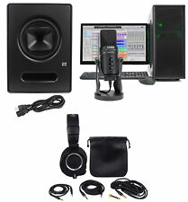 "Presonus Sceptre S8 8"" Studio Monitor+Audio Technica Headphone+Samson Microphone"