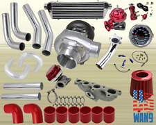 Accord/Prelude Si Se H23 F22A Turbocharger Turbo Kit Red+Manifold+Bov+Wg+Gauge