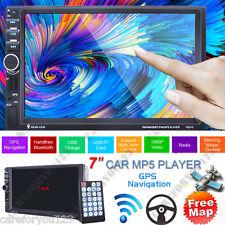 "2 DIN 7"" HD Car Stereo MP3 MP5 Player GPS Nav FM USB TF Bluetooth Radio AUX +Map"