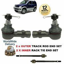 FOR DAIHATSU TERIOS 1997-2006 NEW 2x OUTER & 2x INNER TRACK TIE RACK ROD END