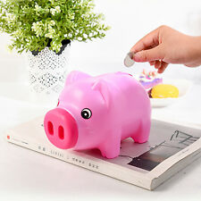 Cute Plastic Piggy Bank Pig Cash Coin Money Saving Box Children Toy Kids Gift