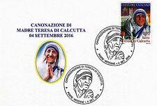 Mutter Teresa / Madre Teresa First Day Sonderkarte Vatikan 2016