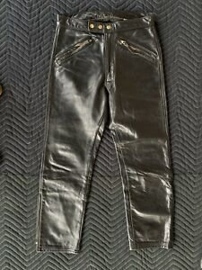 Langlitz Leathers motorcycle pants Black