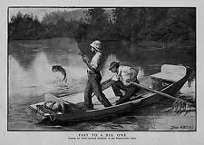 FISHING CASTING FOR SMALL MOUTHED BLACKFISH IN PENNSYLVANIA FISHERMAN BOAT OAR