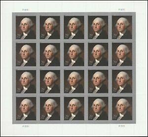 George Washington Sheet of Twenty 20 Cent Postage Stamps Scott 4504