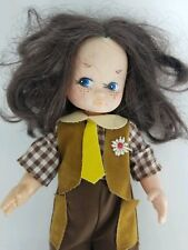 "Vtg Boho Western Hippie Freckled Blue Eye Eugene Movable 9"" Girl Doll Hong Kong"