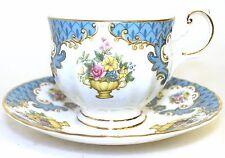 Queens Rosina China Co Centenary Year Duo Tea Cup Saucer HTF - Rosina Teacup