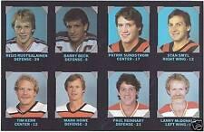 1985-86 7-Eleven NHL Proof Uncut Panel, McDonald..(4)