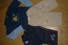 3 tlg. Jungen-Bekleidungsset Gr. 122/128: 2 Bermudas + 1 Langarmshirt