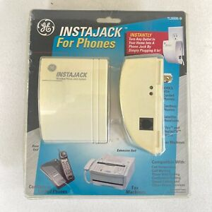 GE Instajack TL96595 Wireless Phone Jack System For Phones Fax Machines New