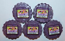 LOT OF 5 YANKEE CANDLE JELLY BEANS TARTS WAX MELTS CANDLE WARMER TART PURPLE