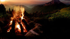NATURAL SOUNDS, SOUNDS OF A CAMPFIRE CD, NIGHT TIME CAMPING, CRACKLING FIRE