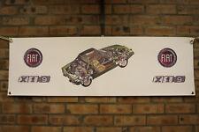 FIAT x19 verde grande in PVC resistente lavoro Negozio Banner Garage mostra Banner