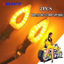 2PCS Motorcycle Bike LED Amber Turn Signal Blinker Lamp Indicator Universal Bulb