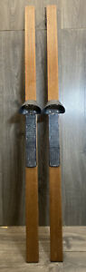 Vtg Nordic Track WOOD SKIS ONLY Ski Excercise Machine replacement parts pair
