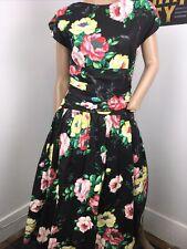 New listing Floral Black Vintage Dress