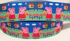 Grosgrain Ribbon 1 Meter - Peppa Pig Ribbon 22 Mm